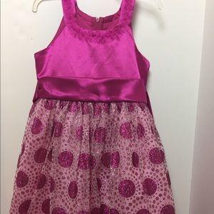 Girl's Pink Dot Holiday Dress